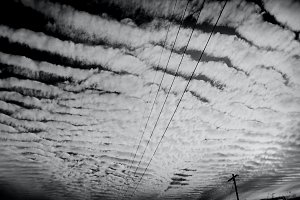 Black and White Film - Cloud Photo
