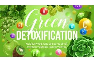 Green diet vector natural vitamins