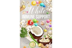White diet vector immune support
