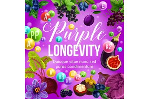Purple diet and longevity food