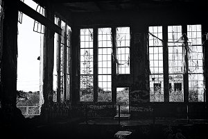 Film Photo - Old Industrial Building