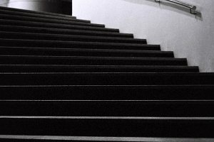 Black and White Stairs Photograph