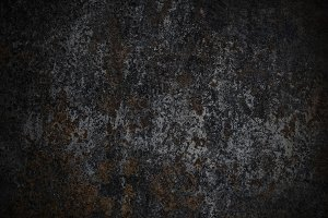 Rust on old metal wall background