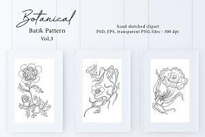Botanical Batik Pattern Vol.3