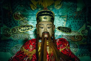 Chinese God with Long Beard