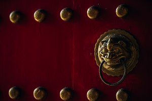 Scary Doorbell at a Chinese Temple