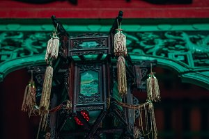 Stunning Chinese Retro Metal Lamp