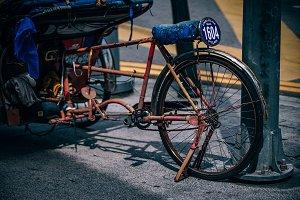 Vintage Rickshaw in Penang, Malaysia