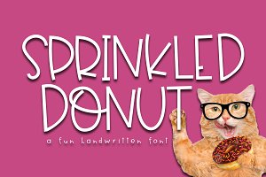 Sprinkled Donut - Handwritten Font