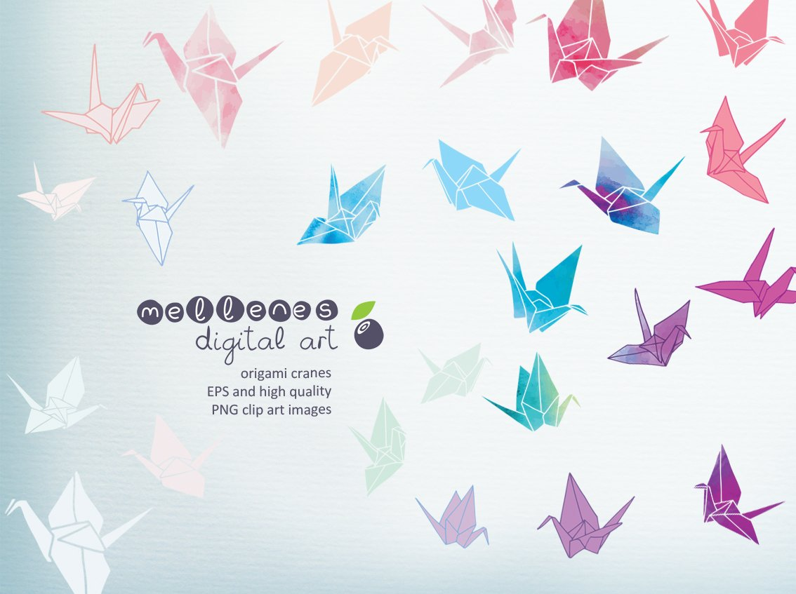 Origami Cranes Illustrations Creative Market