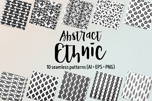 Abstract Ethnic Seamless Patterns