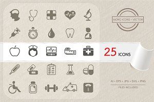 Medical and health icons set