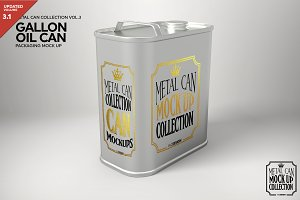 Metal Oil Gallon Can Mockup