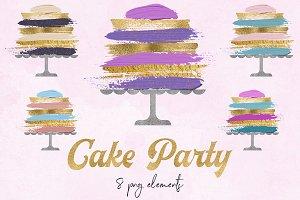 Wedding & Birthday Cake Clipart