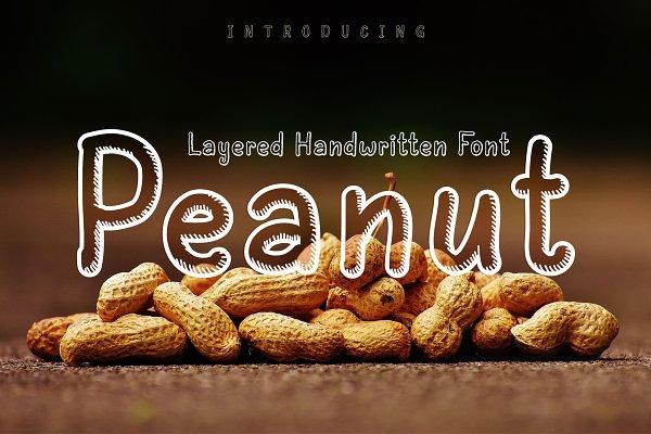 Peanut   Layered Handwritten Font