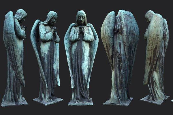 Old Angel Statue PBR