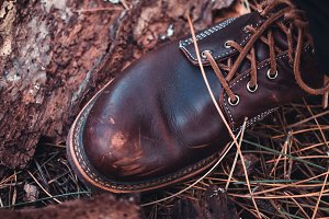 Brown Leather Boot Photograph
