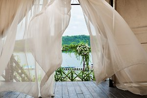 wedding arch of flowers