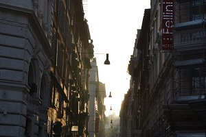 Narrow street in Rome