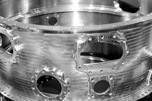Steel parts for industrial machinery
