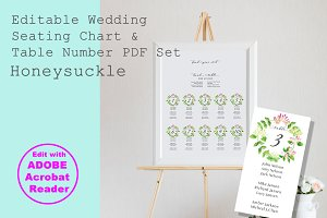 Honeysuckle Editable Seating Chart