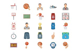 50 Basketball Vector Icons