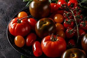 Close up of ripe tomatoe