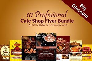 10 Cafe Ad Flyer Poster Bundle