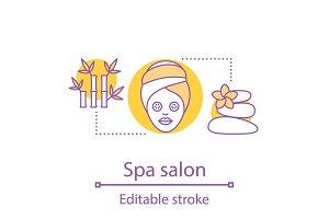 Spa salon concept icon