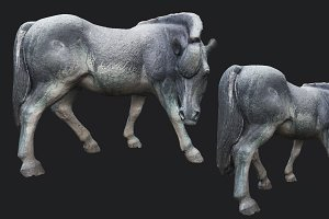 Old Horse Statue PBR