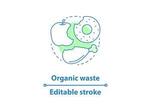 Organic waste concept icon
