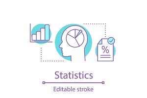 Statistics concept icon