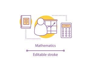 Mathematics concept icon