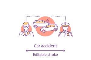 Car accident concept icon