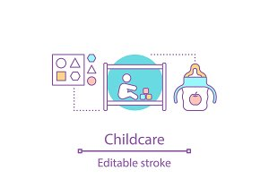 Childcare concept icon