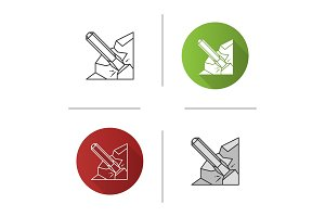 Iron chisel icon
