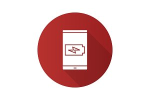 Smartphone battery charging icon