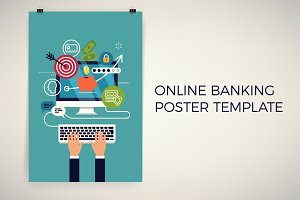 Online Banking Poster Template