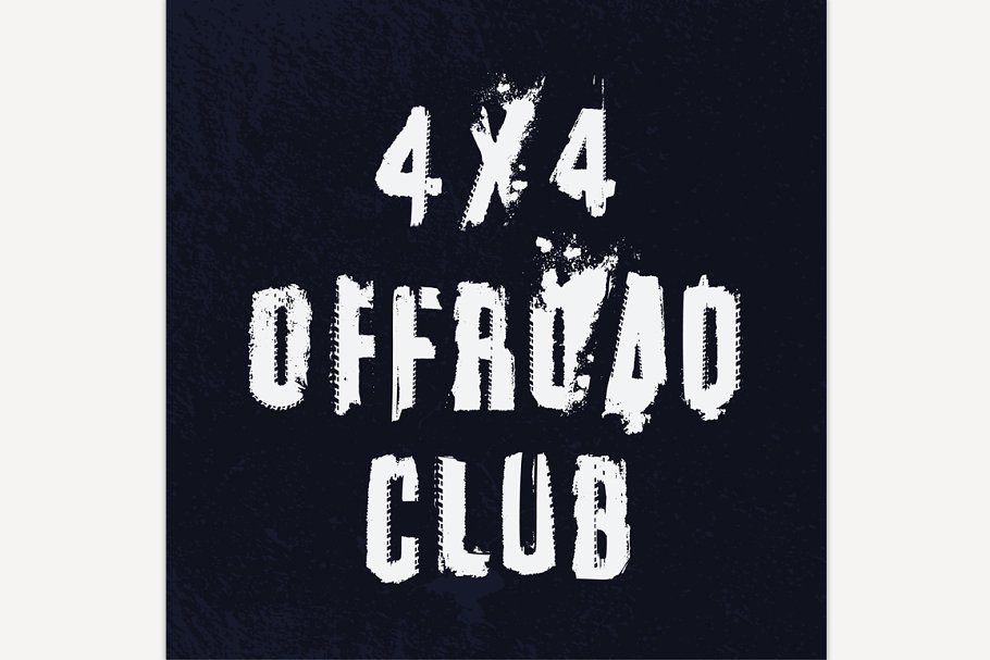 Off-Road Club Lettering