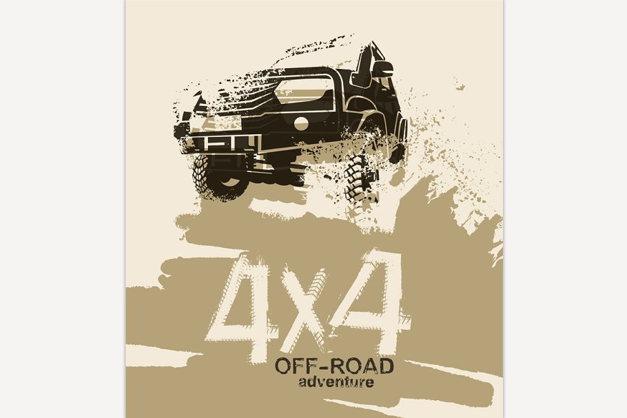 Off Road Quotes Illustrations Creative Market