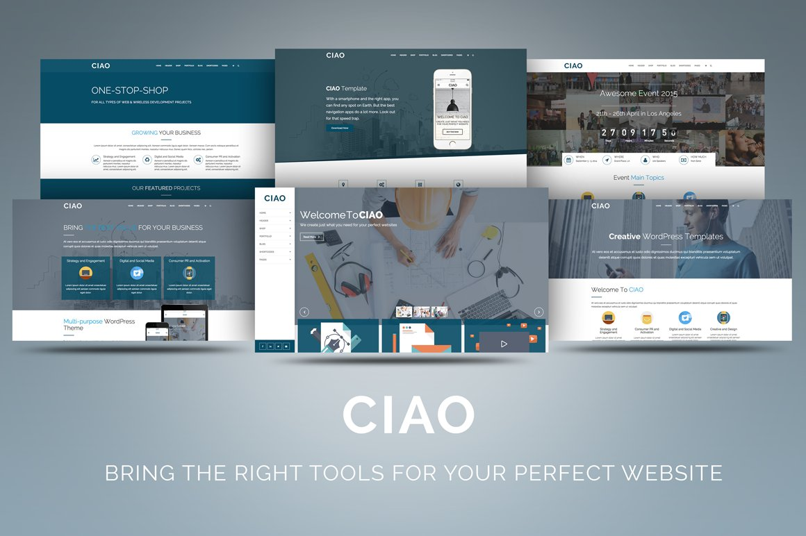 Ciao multi purpose wordpress theme wordpress business themes ciao multi purpose wordpress theme wordpress business themes creative market accmission Images