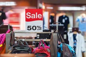 sale 50 off mock up advertise displa