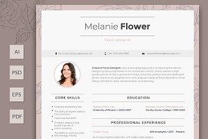 Editable Floral Designer Resume