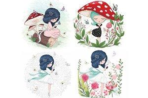 Cute Girls / Cartoon Characters