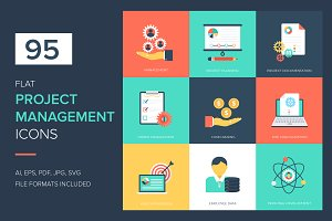 95 Project Management Vector Icons