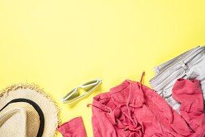 Woman summer cloth set - hat, top