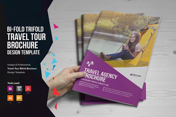 holiday travel brochure design brochure templates creative market