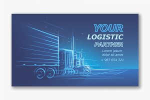 Logistic services card template.