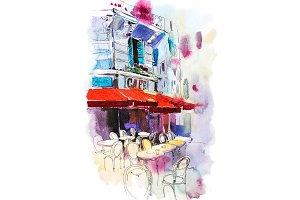 Cafe terrace Old street European