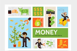 Currency infographic template